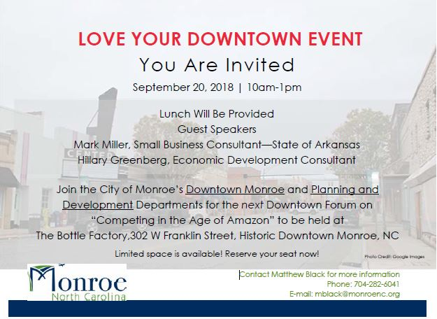 Love Your Downtown Event Flyer