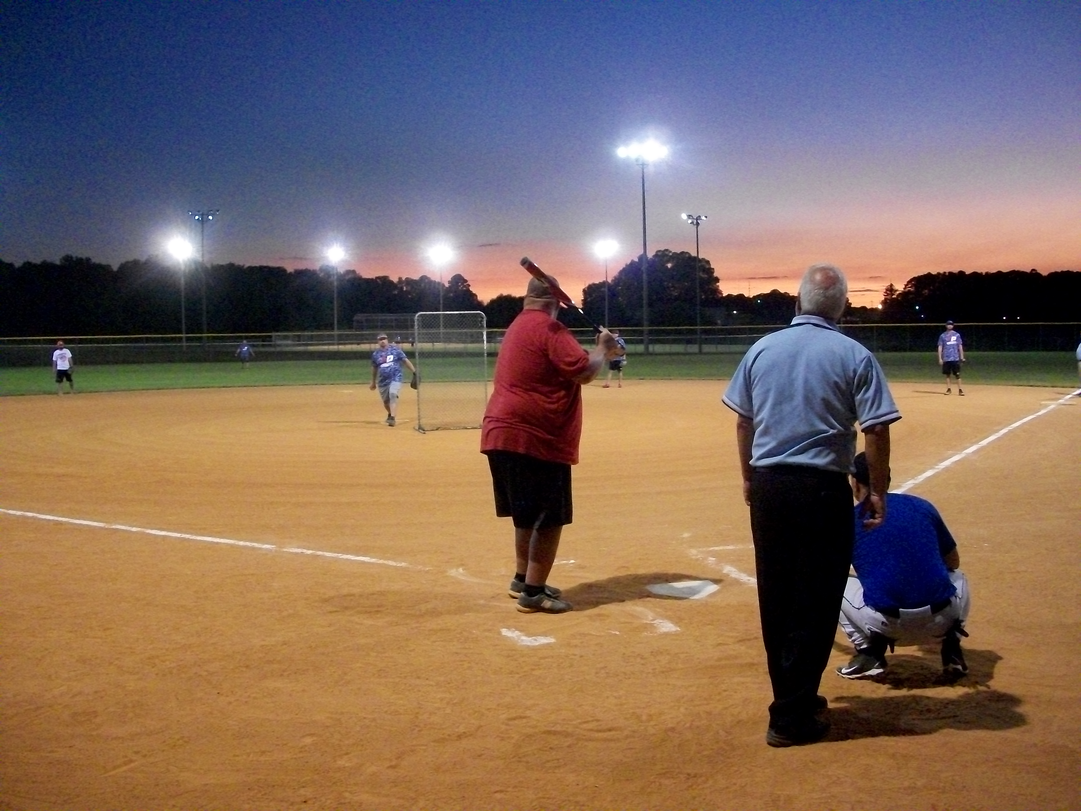 Adult softball participants at Parks Williams Athletic Complex.