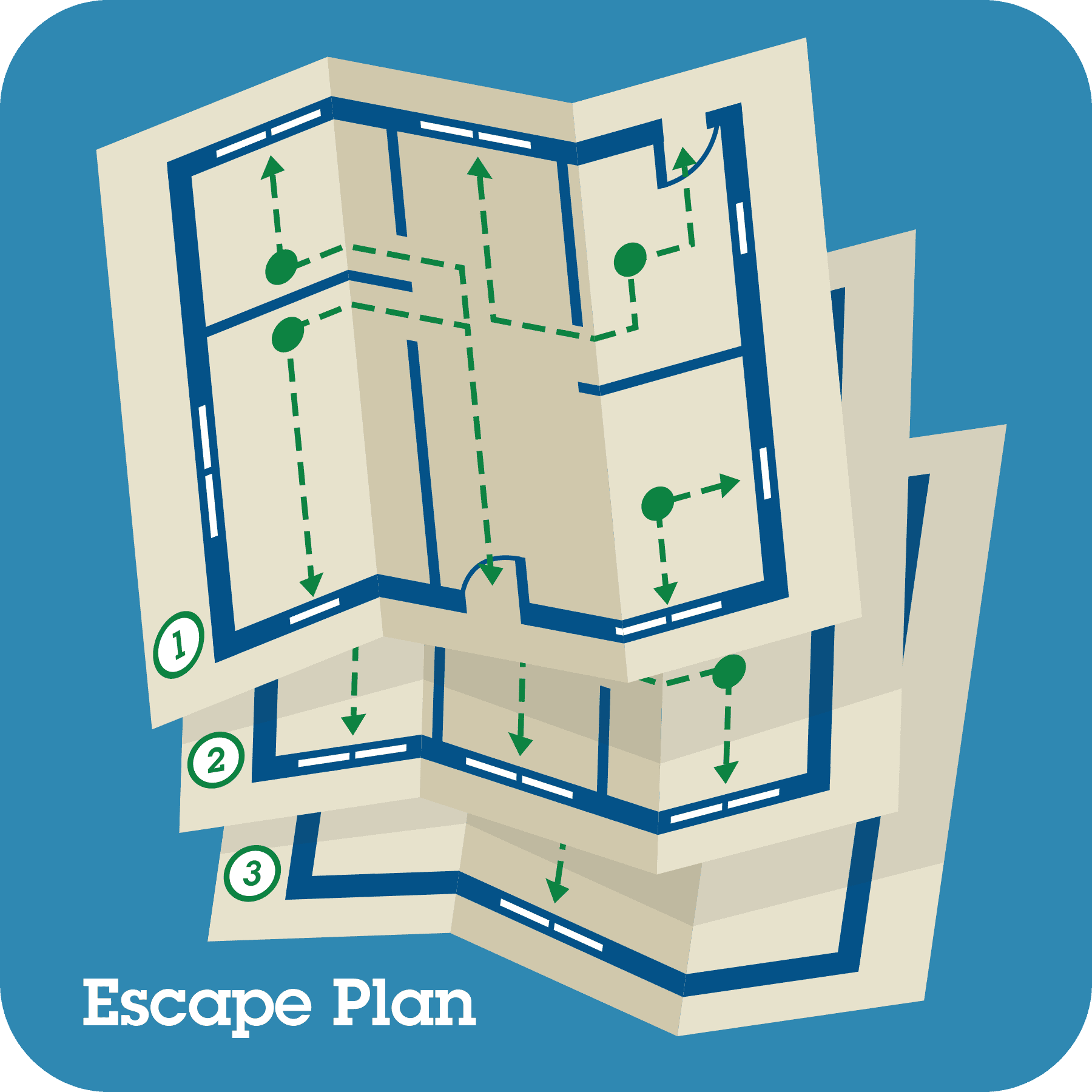 Maps of a home escape plan