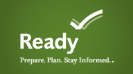Ready.gov Logo - Prepare. Plan. Stay Informed.