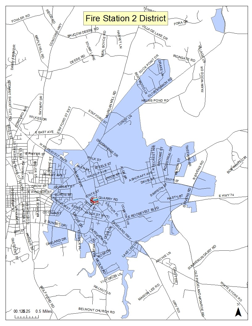 Map of Fire Station 2 District