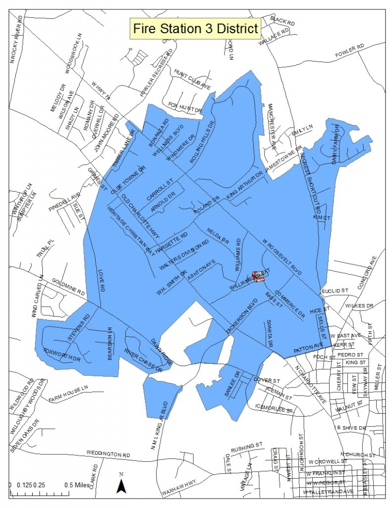 Map of Fire Station 3 District