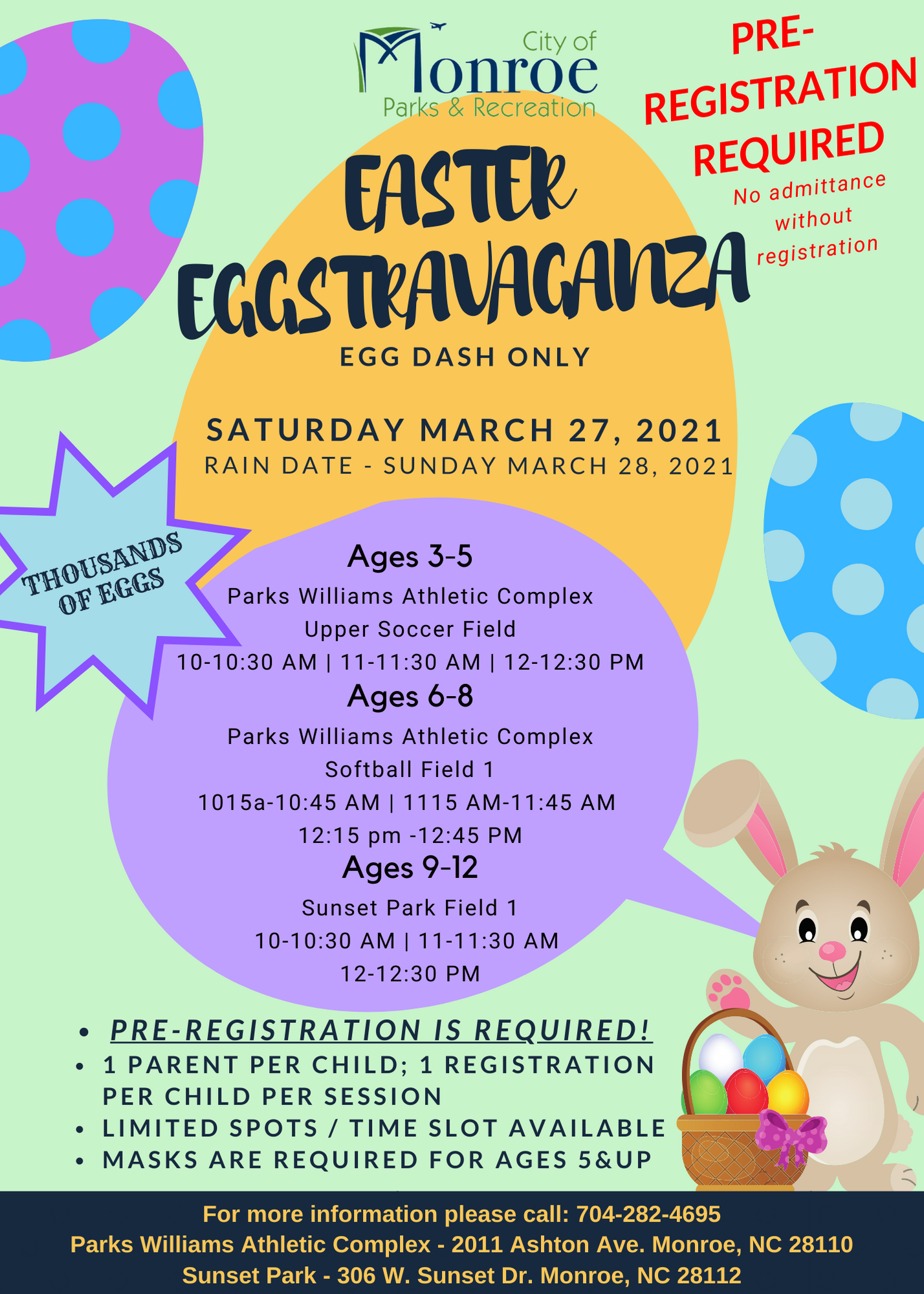 Easter Eggstravaganza - March 27th 2020