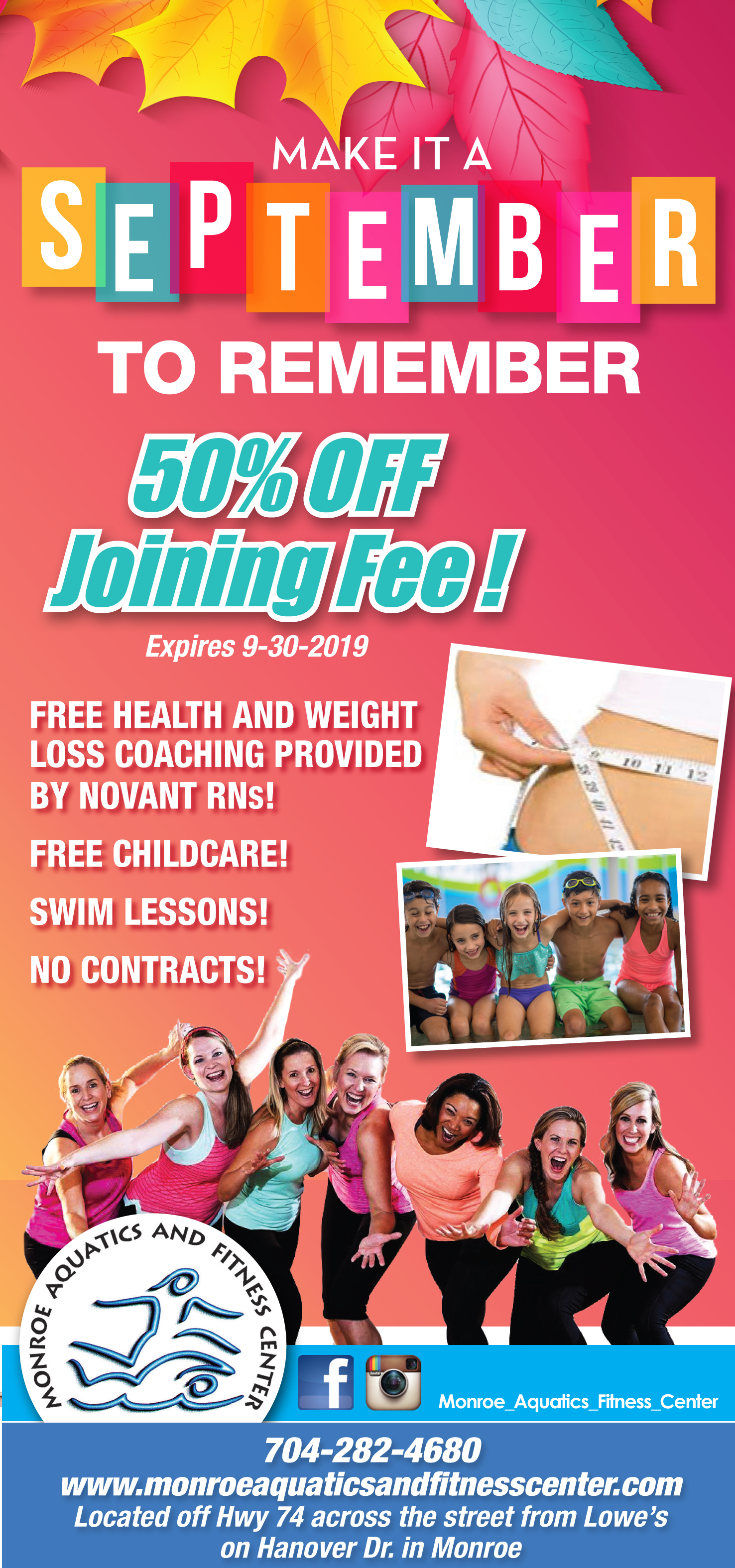 50% off September Joining Fee